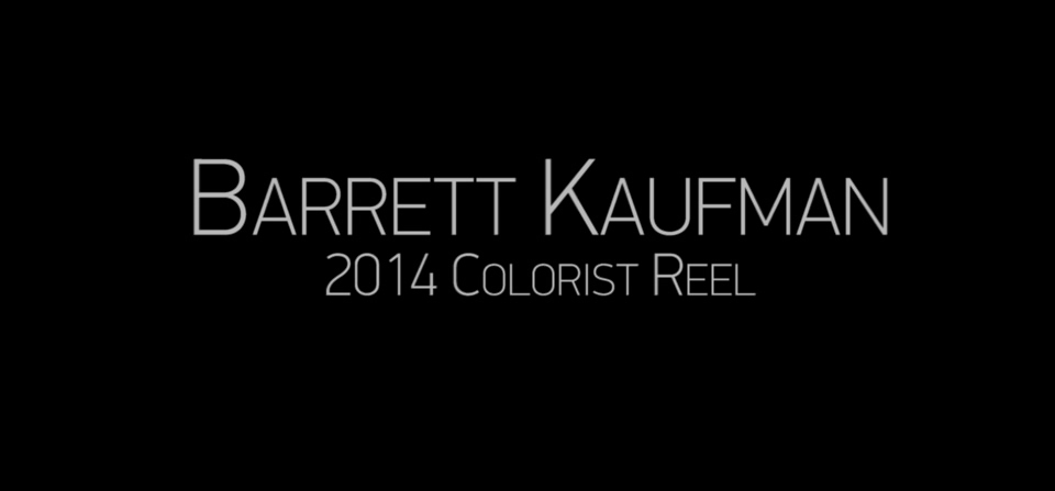 Colorist Demo Reel 2014
